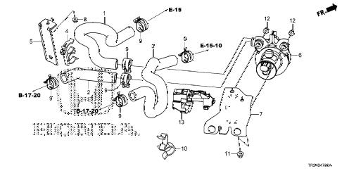 Honda online store : 2013 civic water valve parts