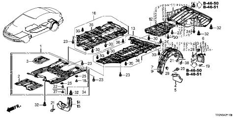 Honda online store : 2014 civic under cover parts