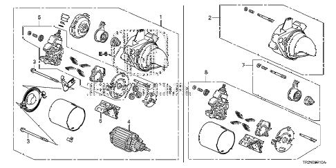 Honda online store : 2013 civic starter motor (mitsuba) parts