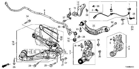 Honda online store : 2012 civic rear lower arm parts