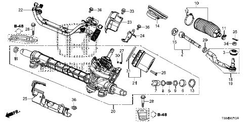 Honda online store : 2014 civic p.s. gear box (eps) parts
