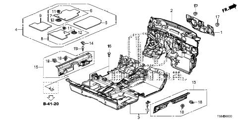 Honda online store : 2015 civic floor mat parts