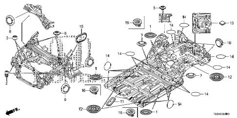 Honda online store : 2015 civic grommet (fr.) parts