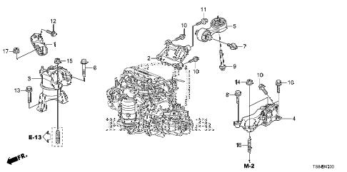 Honda online store : 2012 civic engine mounts (1.8l) (mt