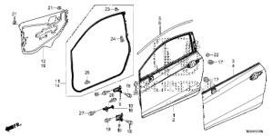 Honda online store : 2012 civic door panels parts