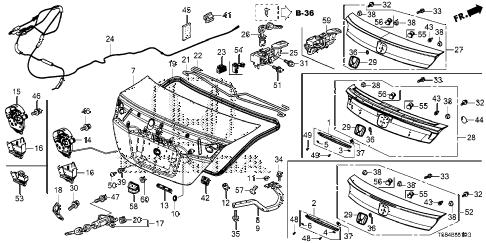 Honda online store : 2012 civic trunk lid (1) parts
