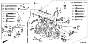 Honda online store : 2014 civic engine wire harness (24l