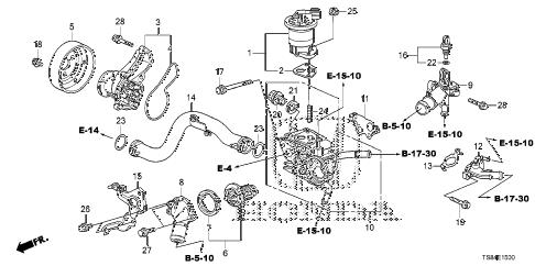 Honda online store : 2012 civic water pump (1.8l) parts