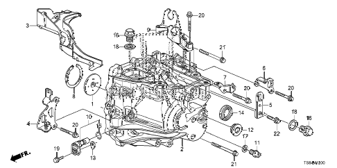 Honda online store : 2015 civic mt transmission case (2.4l