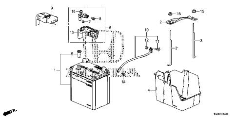Honda online store : 2013 fit battery parts