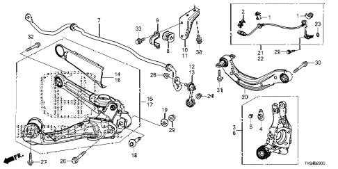 Honda online store : 2013 fit rear knuckle parts