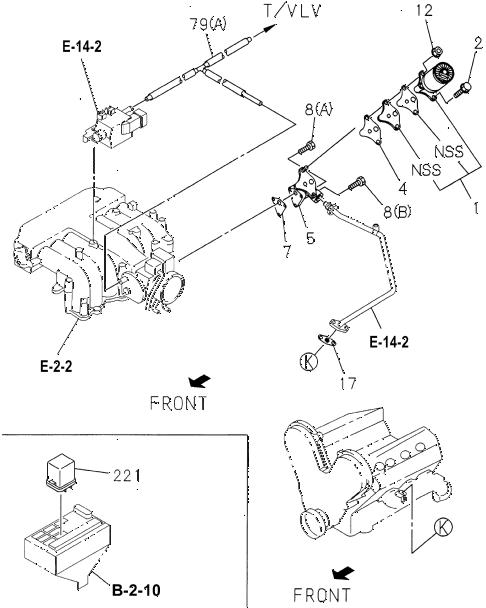 Honda online store : 1996 passport egr valve parts
