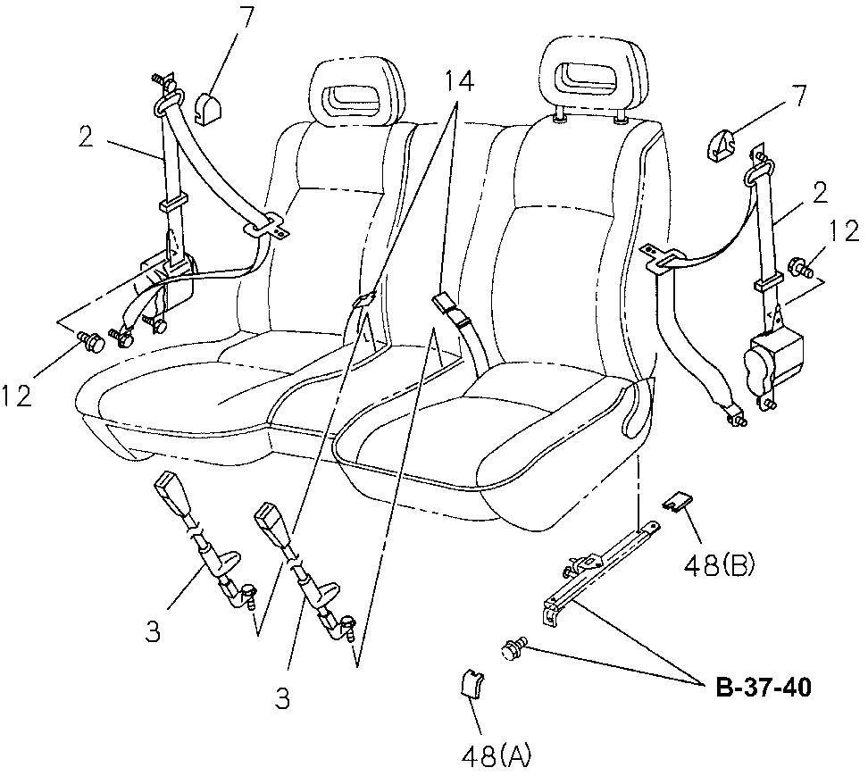 medium resolution of  partnumber mb910820 97 c230 belt diagram seat belt r driver buckle side gray
