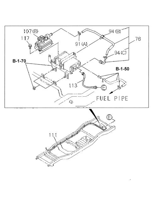 Honda online store : 1998 passport fuel piping (6) parts