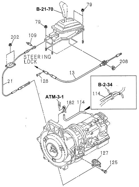 Honda online store : 1998 passport select lever cables parts