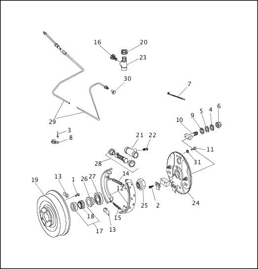 1997 FLT Models Parts Catalog|SIDECAR BRAKE|Manchester