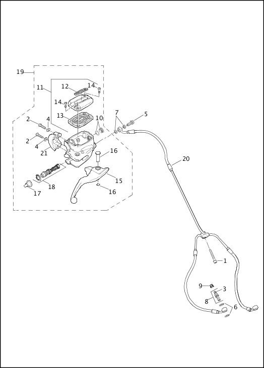 2013 V-Rod Models Parts Catalog|BRAKE CONTROL, FRONT