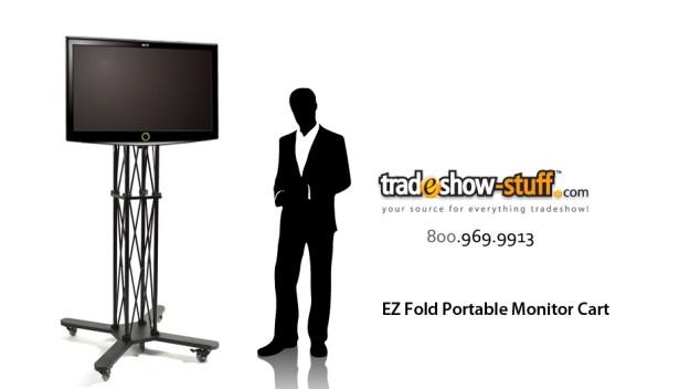 EZ Fold Trade Show Mobile TV Stand