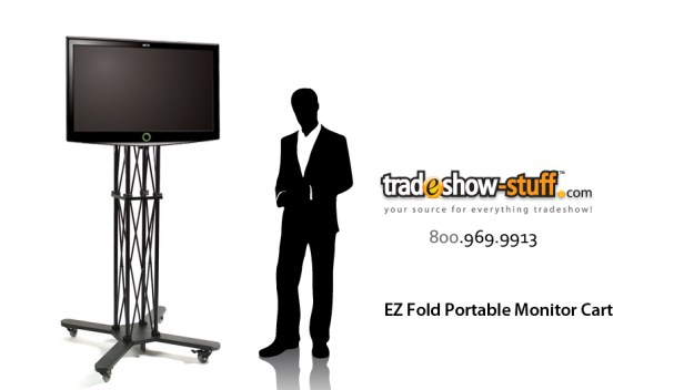 EZ Fold Trade Show Mobile TV Stand