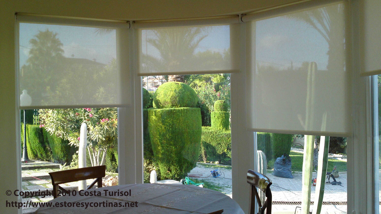 Cortinas Estores para ventanas Triangulares y Circulares