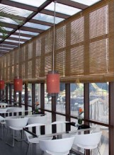 Estores de exterior restaurante