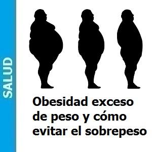 Obesidad exceso de peso y cómo evitar el sobrepeso, Obesidad, exceso de peso y cómo evitar el sobrepeso
