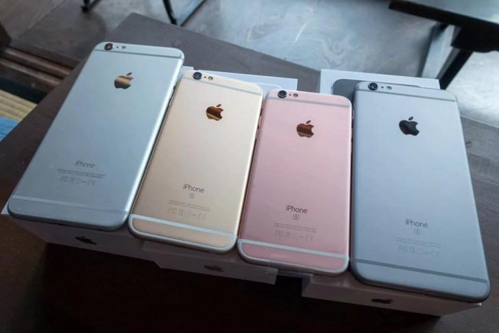 iPhone 6sのカラバリは4色