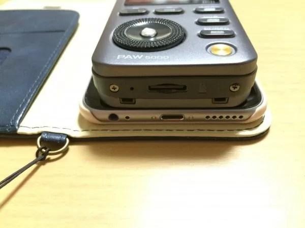 iPhone 6sとの厚さを比較