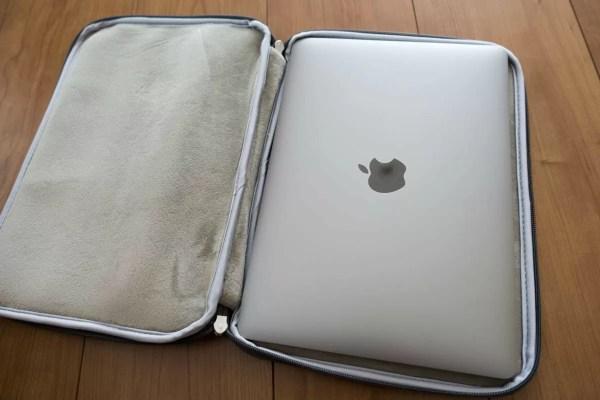 12インチMacBookがピッタリ収納出来る