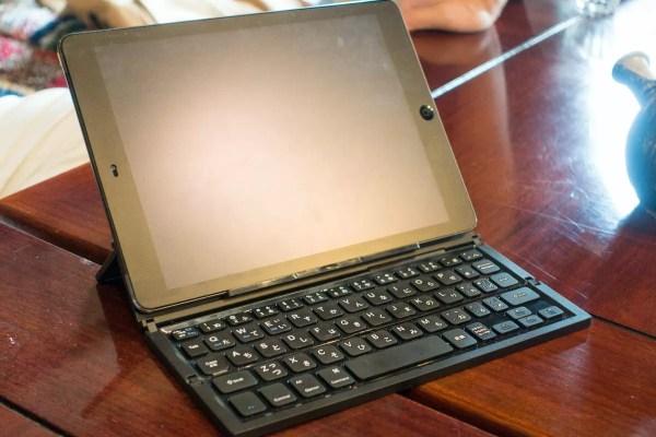 開くとフルサイズキーボード