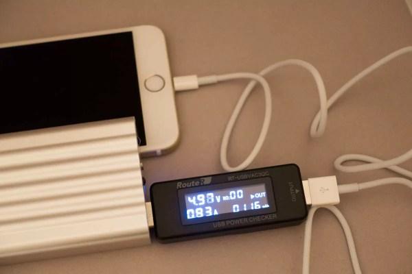 iPhone 6 Plusを2.1Aポートで充電