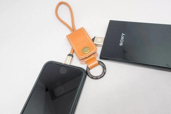 モバイルバッテリーと接続