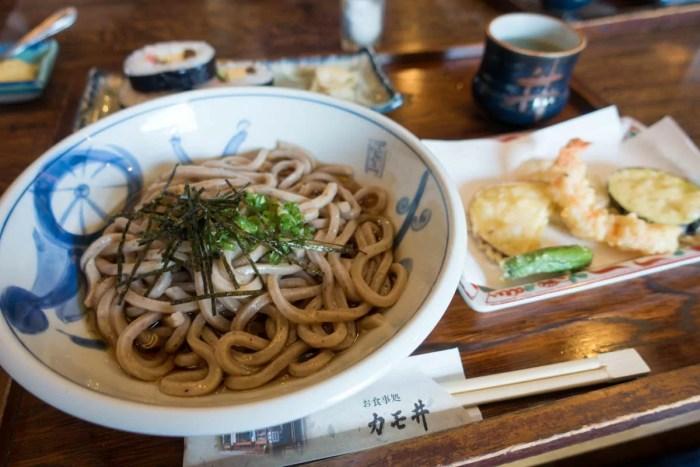 天ぷらぶっかけうどん定食