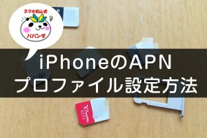 iPhoneのAPN設定はプロファイルで