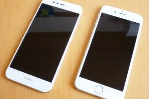 iPhone 6sとHUAWEI nova 2との比較