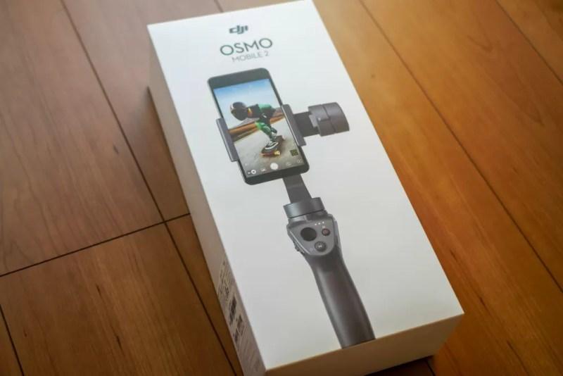 「DJI Osmo Mobile 2」のパッケージ(裏)