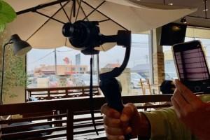 スタビライザーとレンズスタイルカメラ夢の共演
