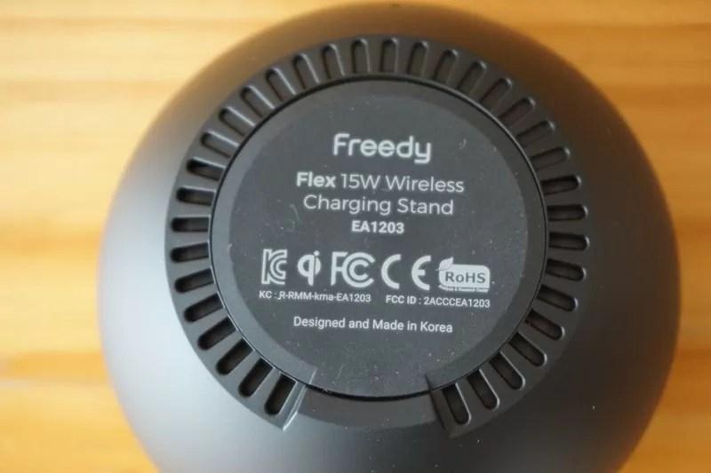【Freedy:Qi(チー)規格対応ワイヤレス充電パッド】本体:底