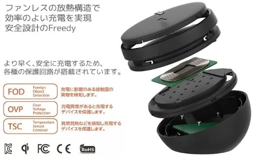 【Freedy:Qi(チー)規格対応ワイヤレス充電パッド】安全性