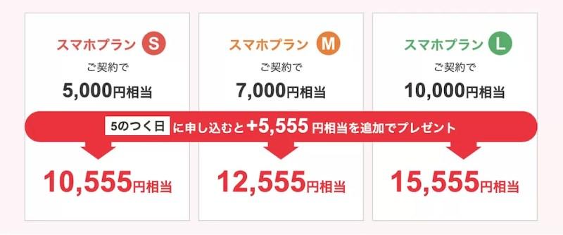 Y!mobile5のつく日PayPayキャンペーン金額条件