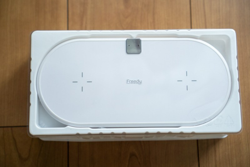 Freedy「デュアルワイヤレス充電パッド EA1202WH」本体