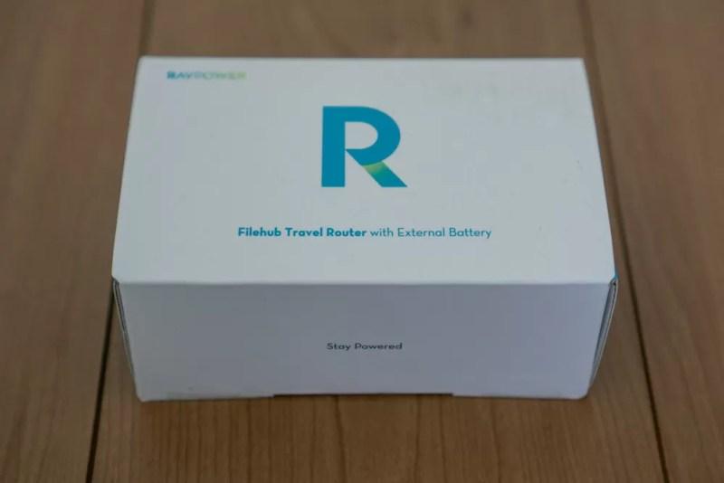 「RAVPower FileHub RP-WD009」のパッケージ