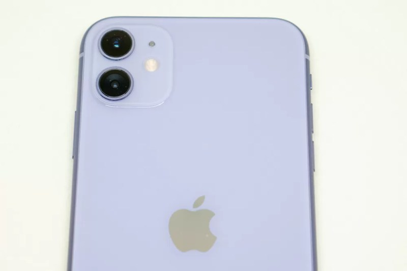 iPhone 11のデュアルカメラ