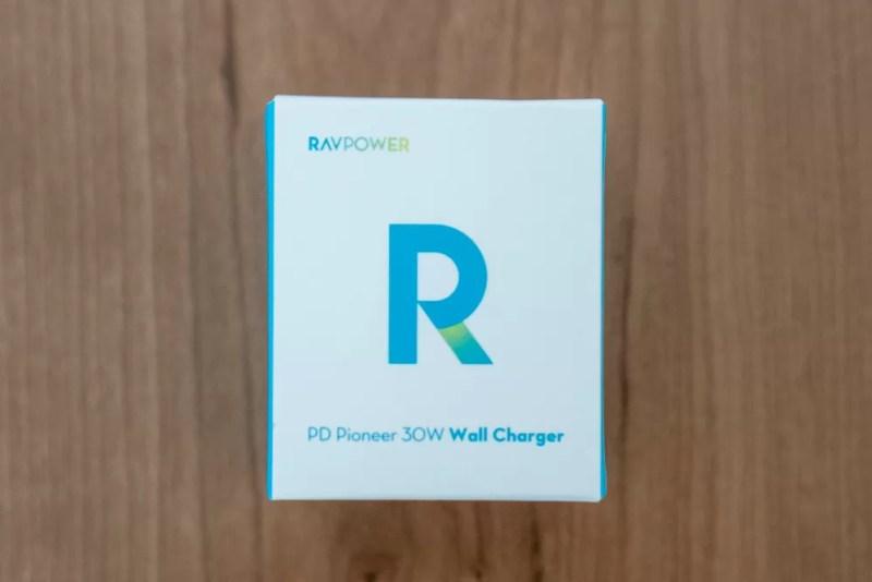 RAVPower「USB-C 30W対応急速充電器 RP-PC120」パッケージ