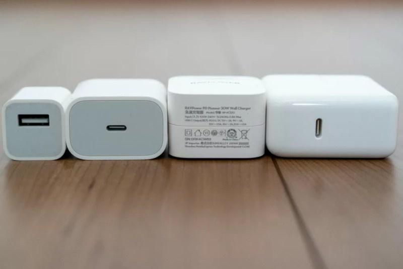 Apple純正充電器との比較