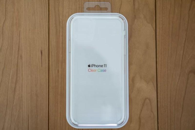 Apple純正iPhone用クリアケースパッケージ