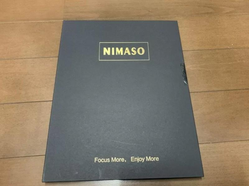 Nimaso「強化ガラス液晶保護フィルム ガイド枠付き」