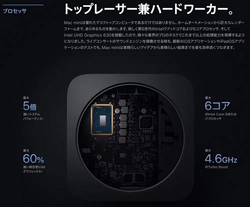 CPUはデスクトップタイプ