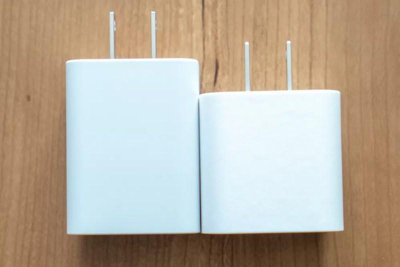 iPhone 11 Proに付属するApple USB-C 18W充電器との比較