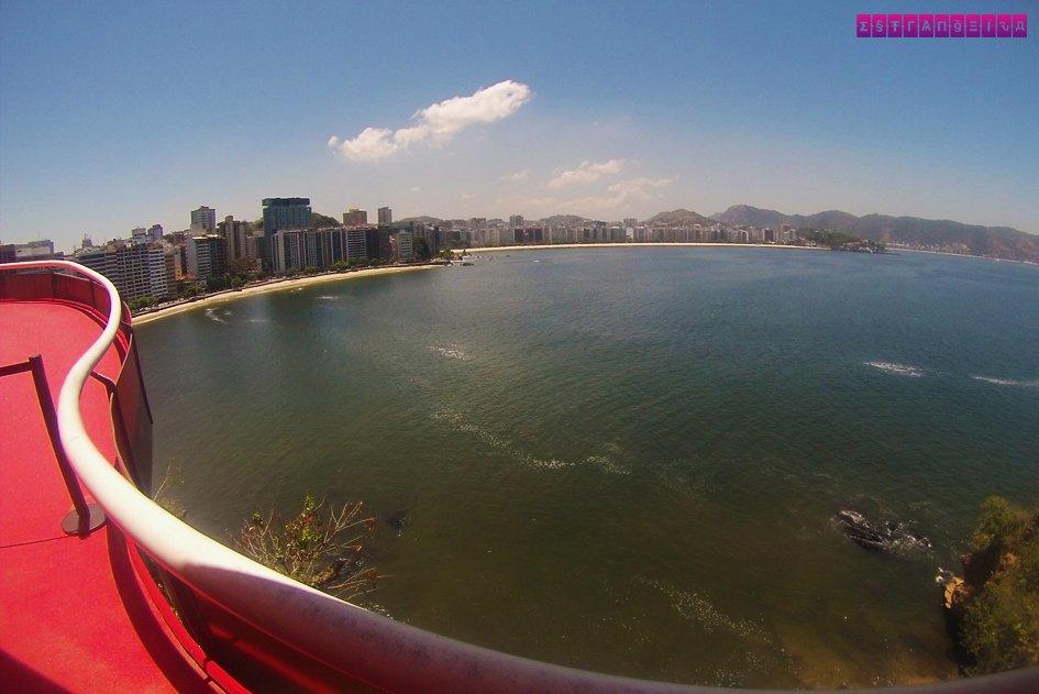 Vista do alto do MAC da Baía da Guanabara